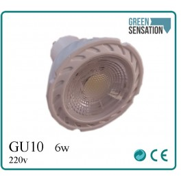 spot Blanc à encastrer à LED GU10 6w Blanc neutre 4500K  220v