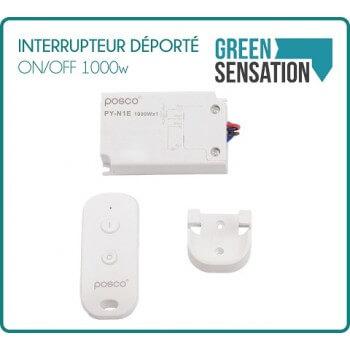 Interruptor remoto / apagado de 1000 W con mando a distancia