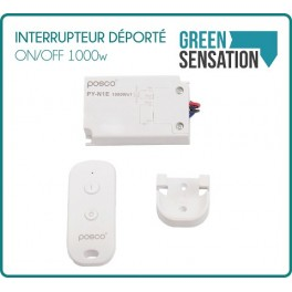 Remote switch ON / OFF 1000w remote control included