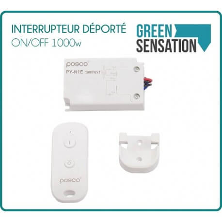 Remote switch ON / OFF 1000 W with remote control