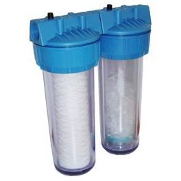 double porte filtre simple couleur bleu vide