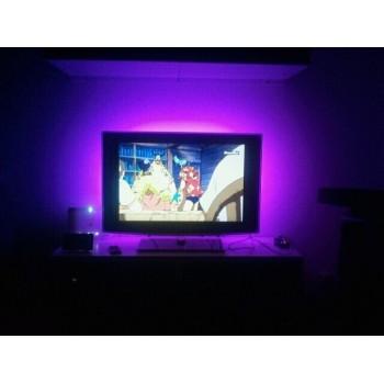 Led Hintergrundbeleuchtung für TV 2 x 90 cm Usb mit Fernbedienung und musikalische Kontrolle Set von 2 Packungen
