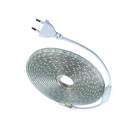 Ribbon warm white led 220V to the meter for indoor lighting / outdoor
