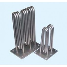 Square resistance heaters for steam generator