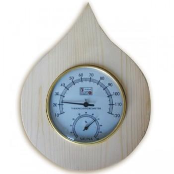 Thermometer, Hygrometer (aus Holz) für Sauna