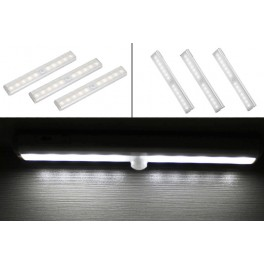 Pack of 3 white LED strips hot infrared detector, loving and sticker support