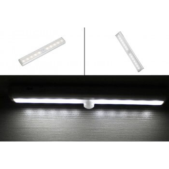Strip warm white LED to infrared detector, loving and sticker support