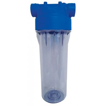 Porte filtre 9 3/4  transparent polyvalent avec équerre de fixation