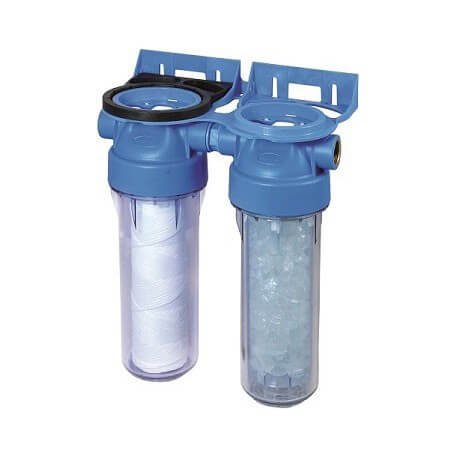 filtro trasparente doppia porta 20/27 con montaggio a parete