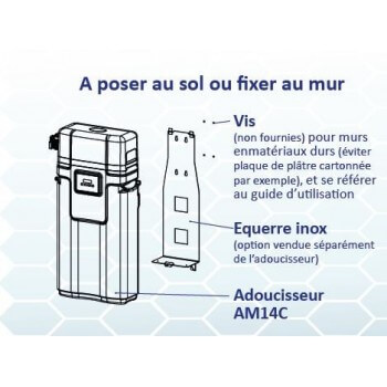 14 Litres white wall water softener