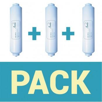 Pack de 3 filtros para refrigerador apic aic - 100 b