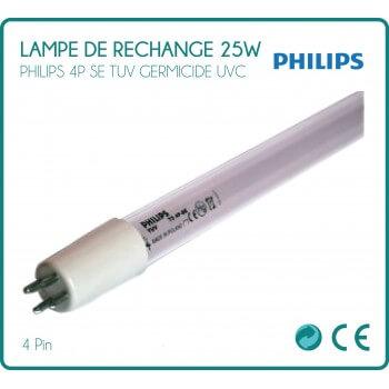 25W Philips per lampada di ricambio sterilizzatore UV