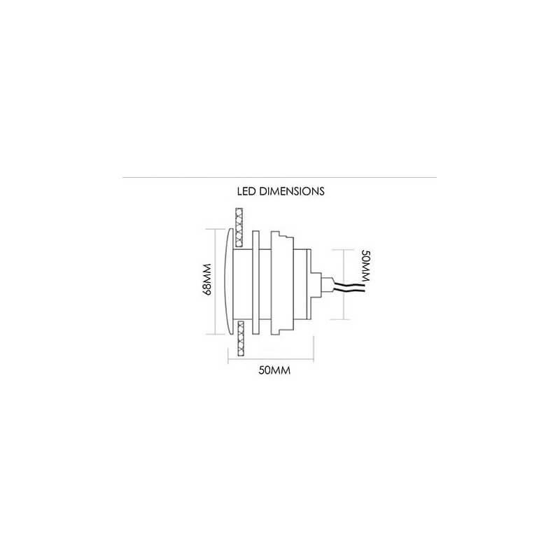 ... Spot RGB Ip68 Etanche Encastrable + Bouton De Contrôle Et Transformateur  Pour Hammam Et Salle De