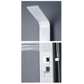Ducha balneo aluminio blanco y negro 120X21cm A120