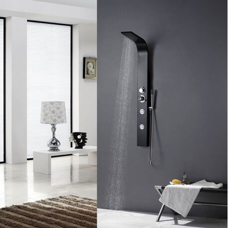 Balneo A132 black 130X13cm aluminium shower column