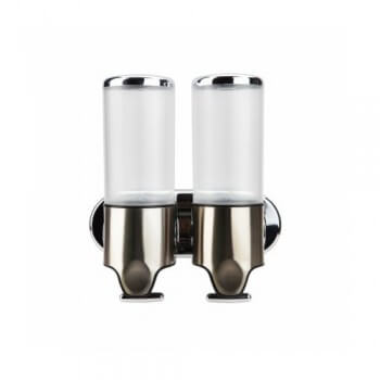 Double soap dispenser and shampoo 2 x 500 ml ultra ergonomic