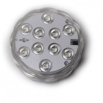 Pack of 3 submersible ip68 LED Spots 16-color remote