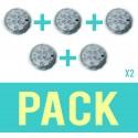 Pack de 5 Spots submersibles lumières LED ip68 environnement humide controllable à distance 16 couleurs