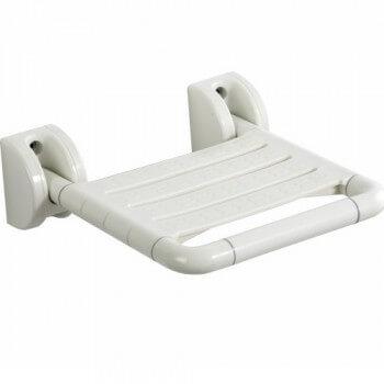 Assise repliable pour douche à l'italienne hammam et tout milieu humide en ABS blanc