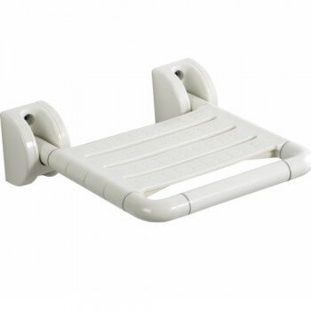 Foldable seat waterproof white ABS for walk-in shower, hammam etc.