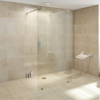 Sedile pieghevole impermeabile ABS bianco per doccia, hammam ecc.