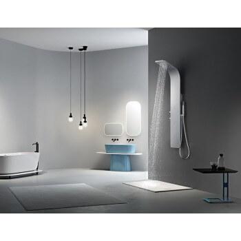 Colonne de douche (1300mmx180mm) en alliage d'aluminium peinture argentée