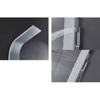 Shower (1300mmx180mm) silver paint aluminum alloy column