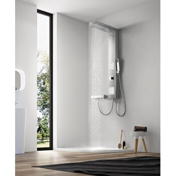 Shower column balneotherapy (1100 mm * 150 mm) brushed finished stainless steel