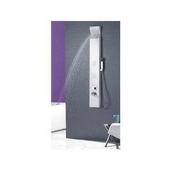 Duschsäule (1500 mm x 200 mm) aus silbernem Aluminium für Duschkabine Dusche oder Wanne Badezimmer Hammam Spa Sauna Wellness