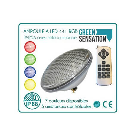 Light bulb LED 456 with remote par56 to pool