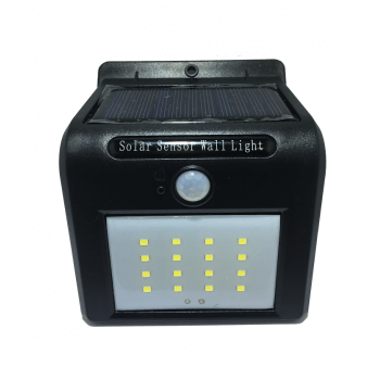 Led solar outdoor lighting spot in black color motion detector
