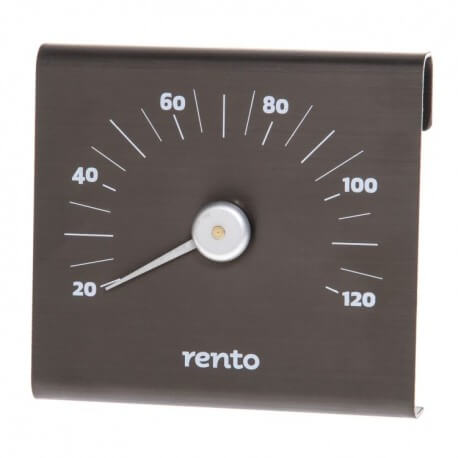 Black brushed aluminium for SAUNA thermometer RENTO