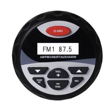 Enceintes waterproof 4 x 40  W avec commande centrale USB radio bluetooth hi-fi