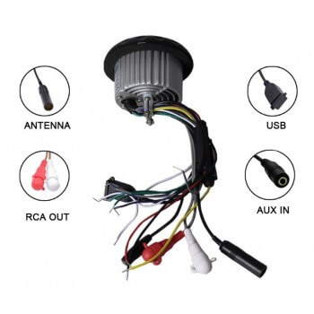 Waterproof speakers 2 x 70W with central control USB hi-fi bluetooth radio waterproof