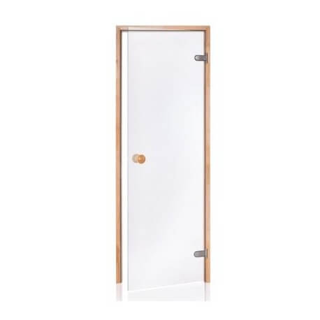 8 mm safety glass door sauna pine frame