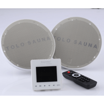 Speaker Kit waterproof 2 x 80W with remote control remote and remote central SD card/bluetooth/USB/FM