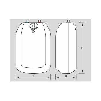 Wasser-Heizungen für Waschbecken und Spüle mit einem Tank in Edelstahl 10L POC Luna Inox kospel