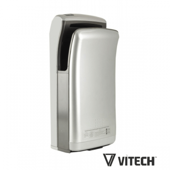 Sèche-mains Vitech automatique à double jet d'air Blanc