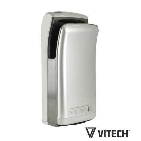 Vitech automatic hand dryer dual air-jet white