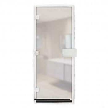 Door Hammam 190 x 80 cm transparent glass 8mm with threshold security