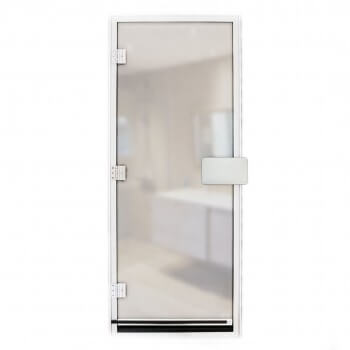 Hammam door 185.5 x 78 cm transparent 8mm safety glass with sill