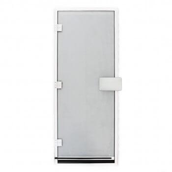 Porte de hammam 190x80 cm verre sécurit 8mm opaque