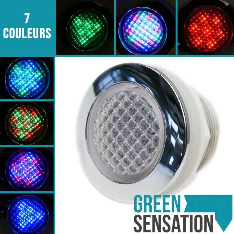 ... Spot RGB Ip68 Etanche Encastrable + Bouton De Contrôle Et Transformateur  Pour Hammam Et Salle De ...