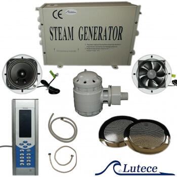 Hamam Kit mit Dampfgenerator und Zubehör Dampferzeuger LUTECE® 2,8 kw für Dampfbad (Raumvolumen bis 4 M3)
