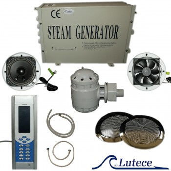 Kit Hamam small volume generator steam 2, 8kw LCD display with accessories
