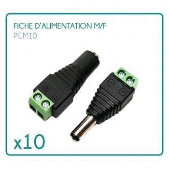 Folge von 10 Blatt des männlichen /femelle Typ PCM10 12/24V Netzteile