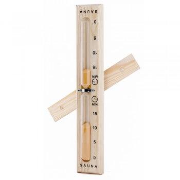 Reloj de arena para Sauna en madera de pino macizo