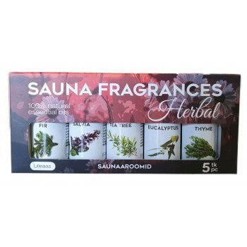 Arômes sauflex herbal Sauna 5 x 15 ml huiles essentielles