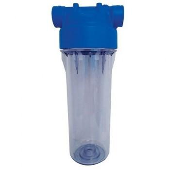 Porte filtre 10 pouces  transparent polyvalent avec équerre de fixation desineo