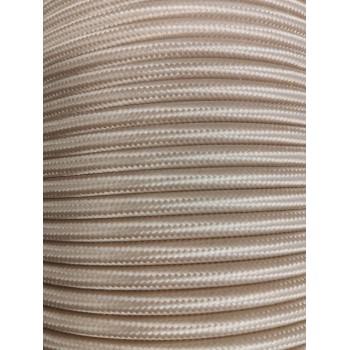 Fil électrique tissé de couleur beige vintage look retro en tissu